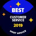 """Il badge """"Best Customer Support"""" è dato a quelle compagnie che hanno dimostrato di essere fantastiche al momento del test telefonico e via email effettuato dai nostri editori."""