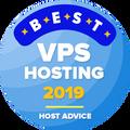 Assegnato alle compagnie che sono nella lista dei top 10 della categoria hosting VPS.