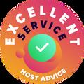 """Ci prendiamo il tempo necessario per controllare, in maniera anonima, il servizio clienti di ogni compagnia.  Il """"Badge of excellence"""" è vinto dalle compagnie di hosting che rispecchiano i criteri elevati di valutazione di HostAdvice's per il servizio clienti, assicurando di  avere un trattamento professionale, preparato, curato e soprattutto utile."""